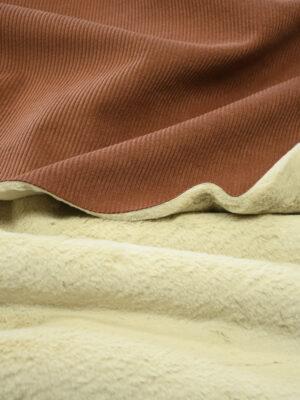 Дубленка вельветовая коричневая с мехом (9894) - Фото 20