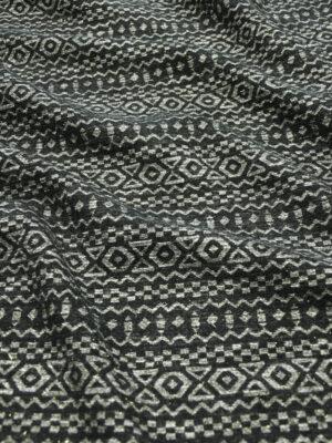 Жаккард черный с геометрическим орнаментом (9902) - Фото 26