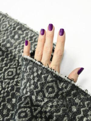Жаккард черный с геометрическим орнаментом (9902) - Фото 27