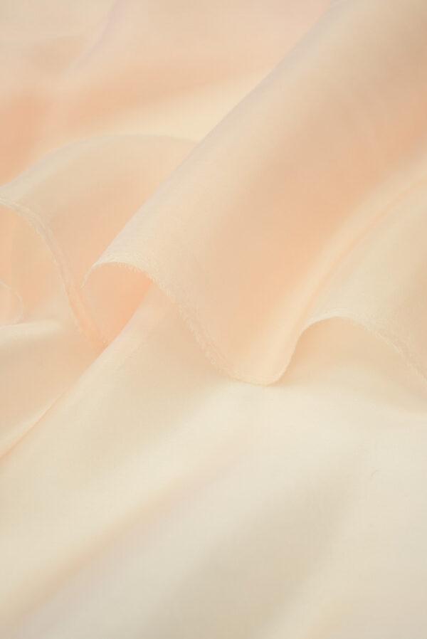 Органза шелковая персиковая (7187) - Фото 9