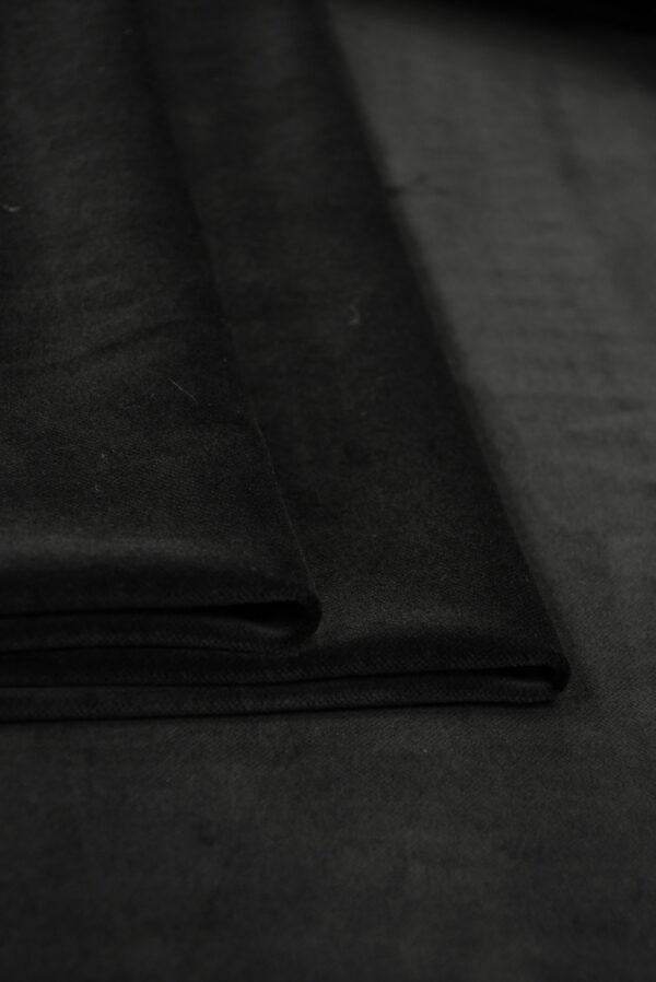 Бархат хлопковый черный (9910) - Фото 10