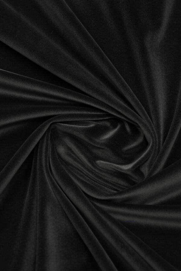 Бархат хлопковый черный (9910) - Фото 9