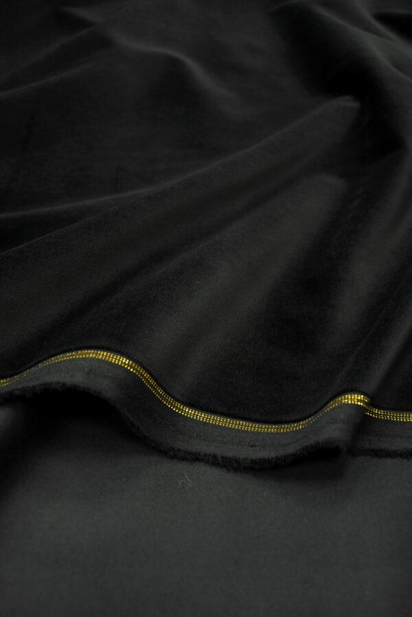 Бархат хлопковый черный (9910) - Фото 8