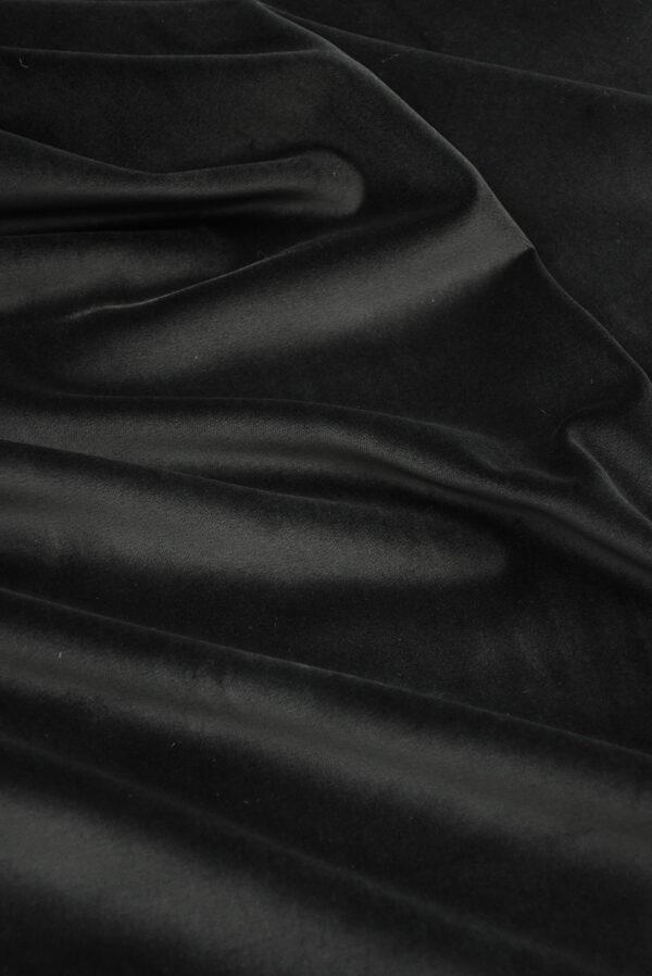 Бархат хлопковый черный (9910) - Фото 6