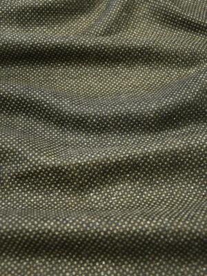 Твид шелковый темно-коричневый с бежевыми вкраплениями (9932) - Фото 10