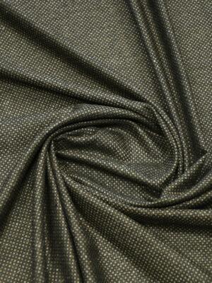 Твид шелковый темно-коричневый с бежевыми вкраплениями (9932) - Фото 11