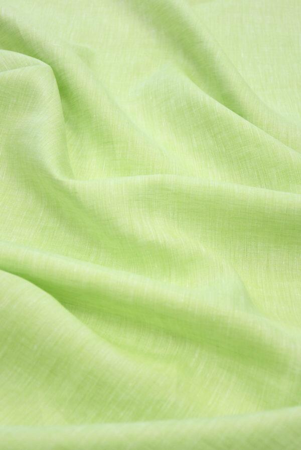 Лен салатового оттенка меланж (9941) - Фото 6