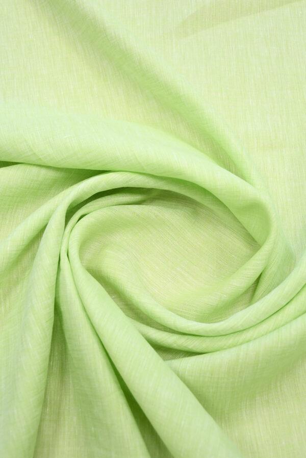 Лен салатового оттенка меланж (9941) - Фото 8