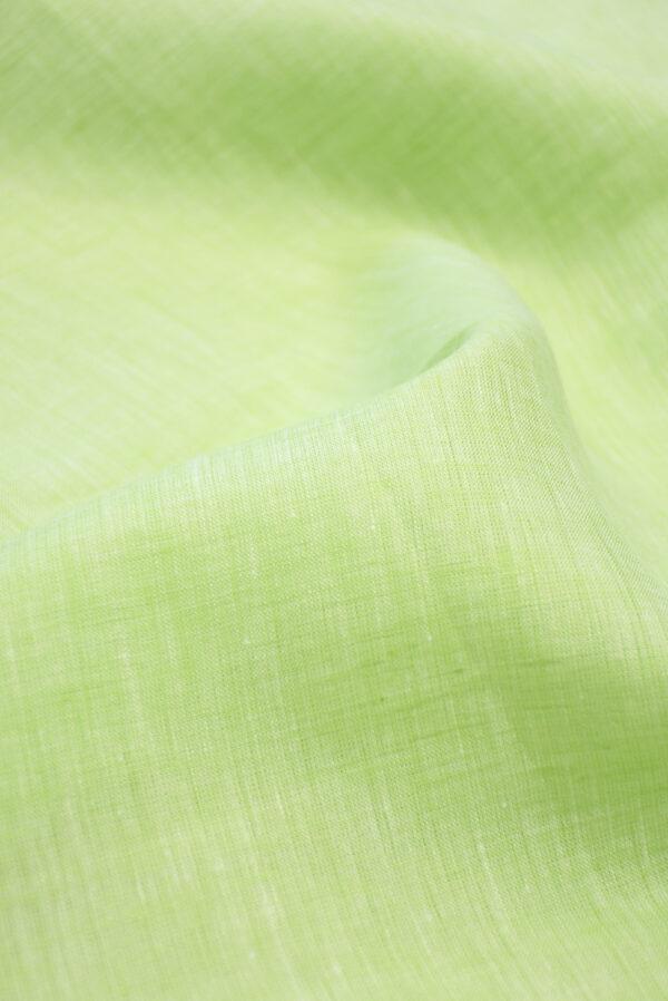 Лен салатового оттенка меланж (9941) - Фото 9