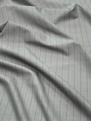 Костюмная шерсть серая в тонкую полоску (7239) - Фото 6