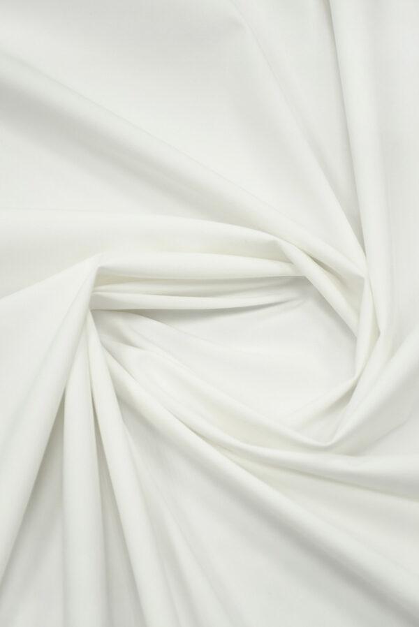 Костюмная ткань стрейч белого цвета (7370) - Фото 7