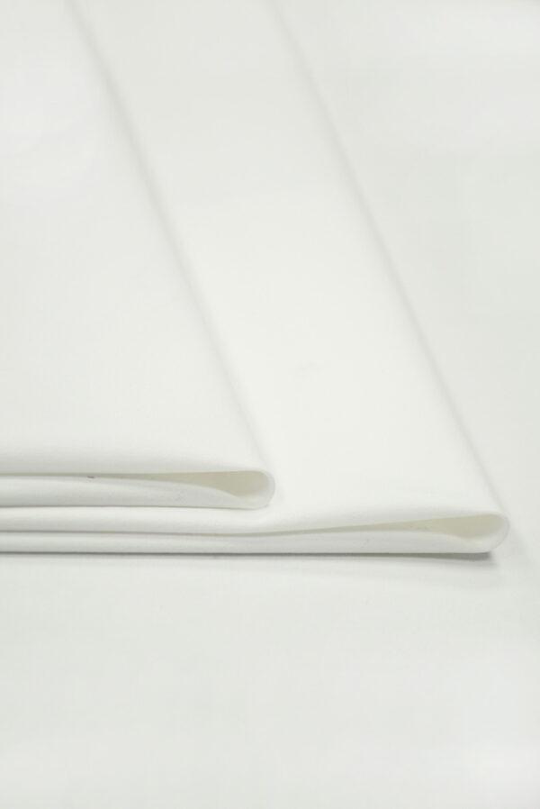 Костюмная ткань стрейч белого цвета (7370) - Фото 8