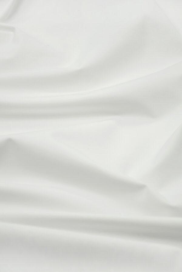 Костюмная ткань стрейч белого цвета (7370) - Фото 6