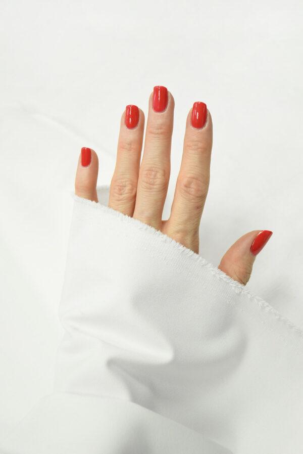 Костюмная ткань стрейч белого цвета (7370) - Фото 10