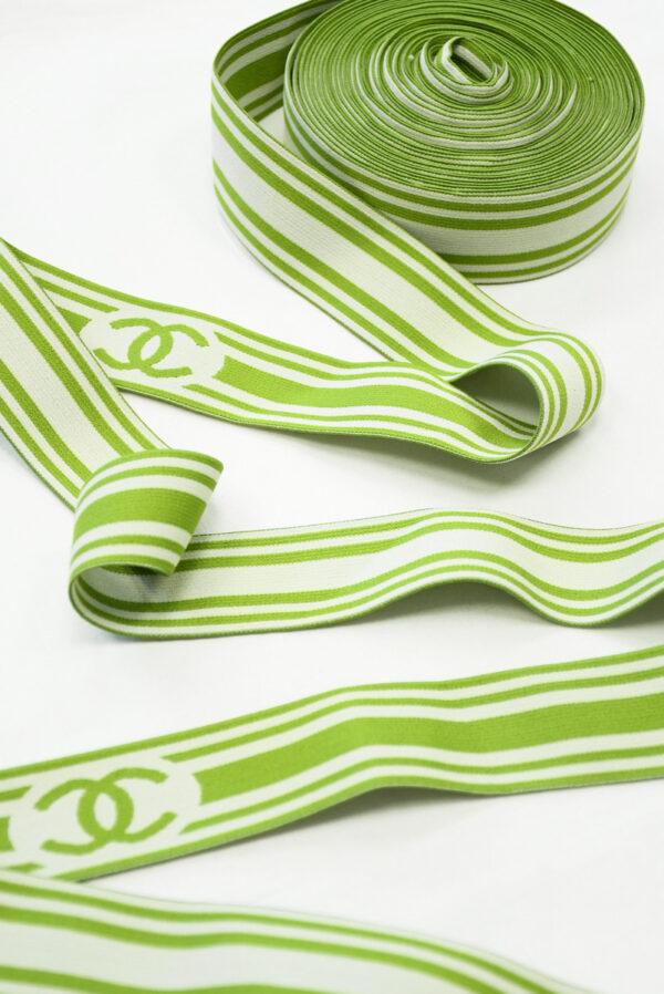 Резинка светлая в зеленую полоску (t0807) т-27 - Фото 6