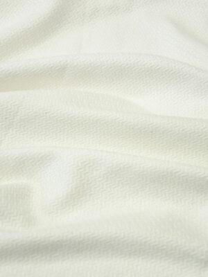 Жаккард хлопковый молочный в зигзаг (10009) - Фото 22