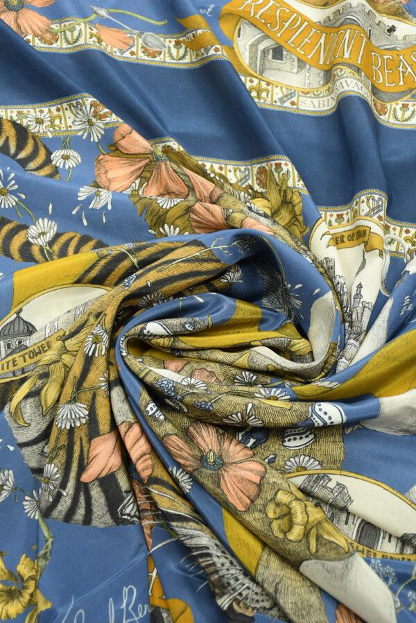 Шелк купон с тигром и львом (10029) - Фото 8