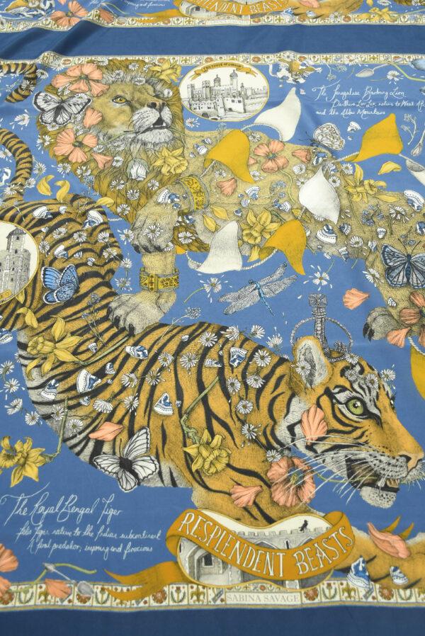Шелк купон с тигром и львом (10029) - Фото 11