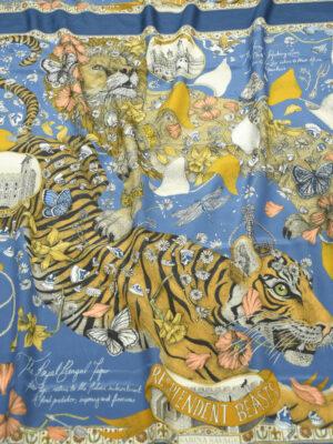 Шелк купон с тигром и львом (10029) - Фото 6