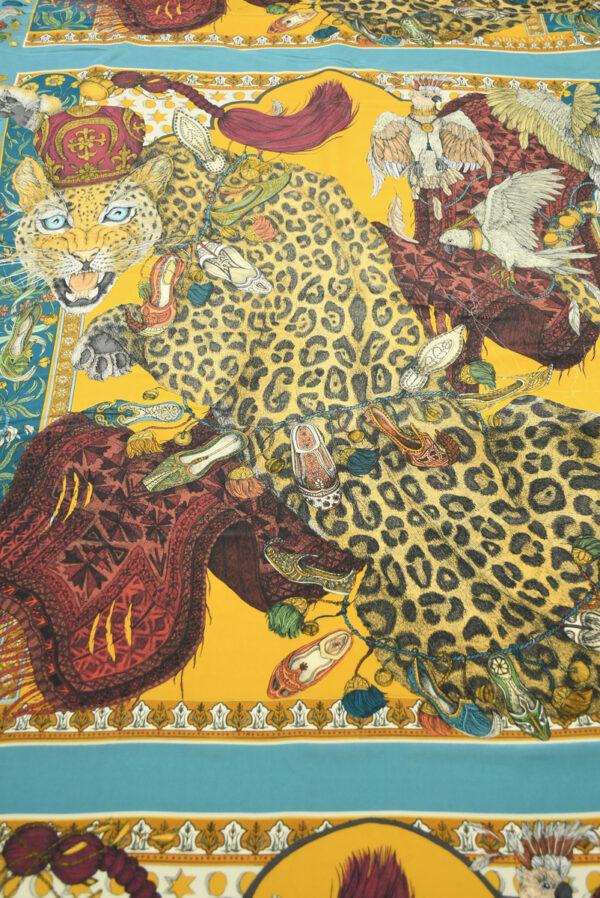 Шелк купон с леопардами и орлами (10030) - Фото 11