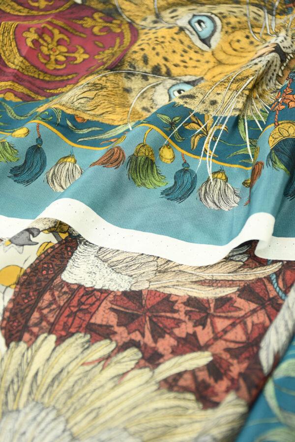 Шелк купон с леопардами и орлами (10030) - Фото 9