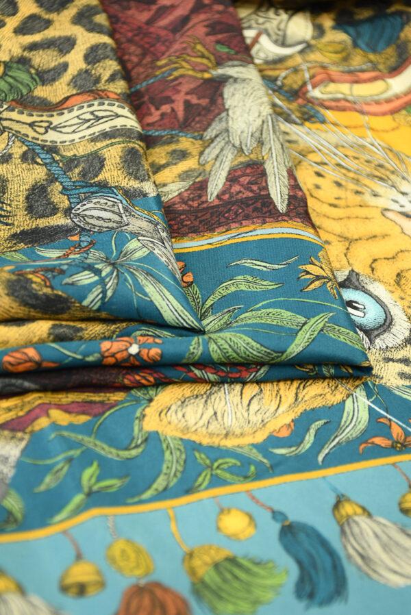 Шелк купон с леопардами и орлами (10030) - Фото 10