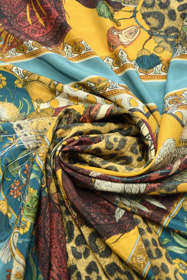 Шелк купон с леопардами и орлами (10030) - Фото 8