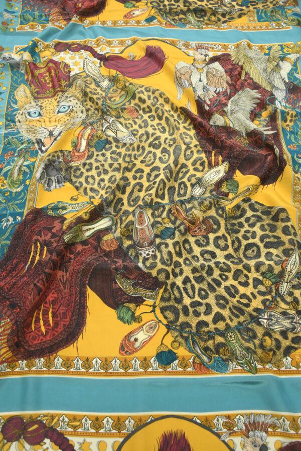Шелк купон с леопардами и орлами (10030) - Фото 6