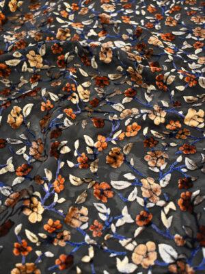 Панбархат черный с красными розами (9340) - Фото 13