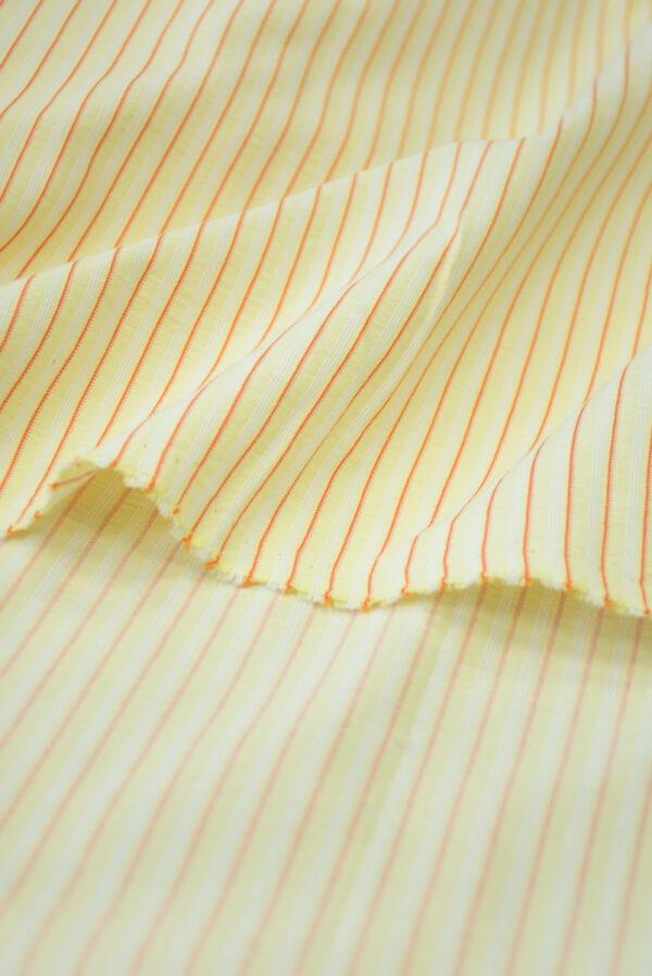 Хлопок желтый в мелкую полоску (9968) - Фото 10