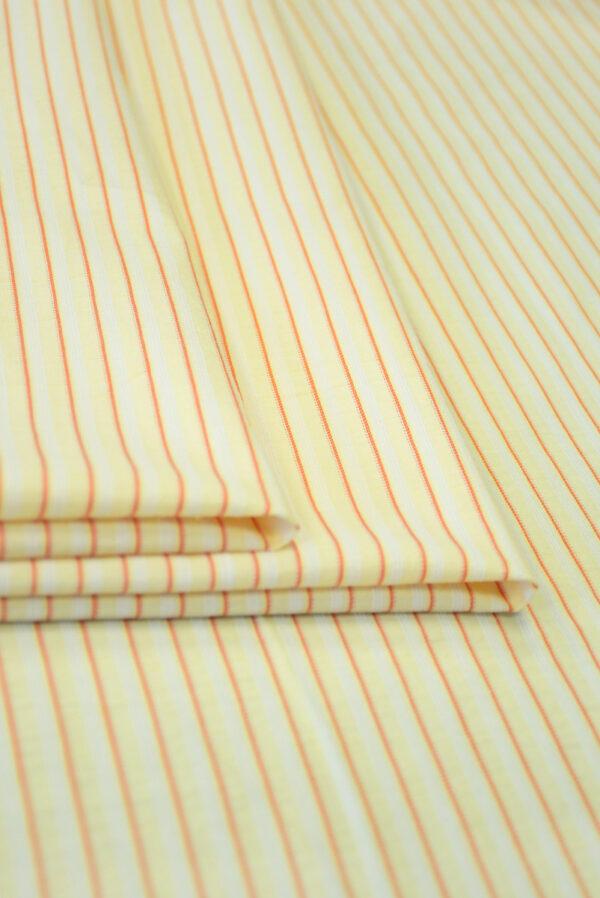 Хлопок желтый в мелкую полоску (9968) - Фото 8