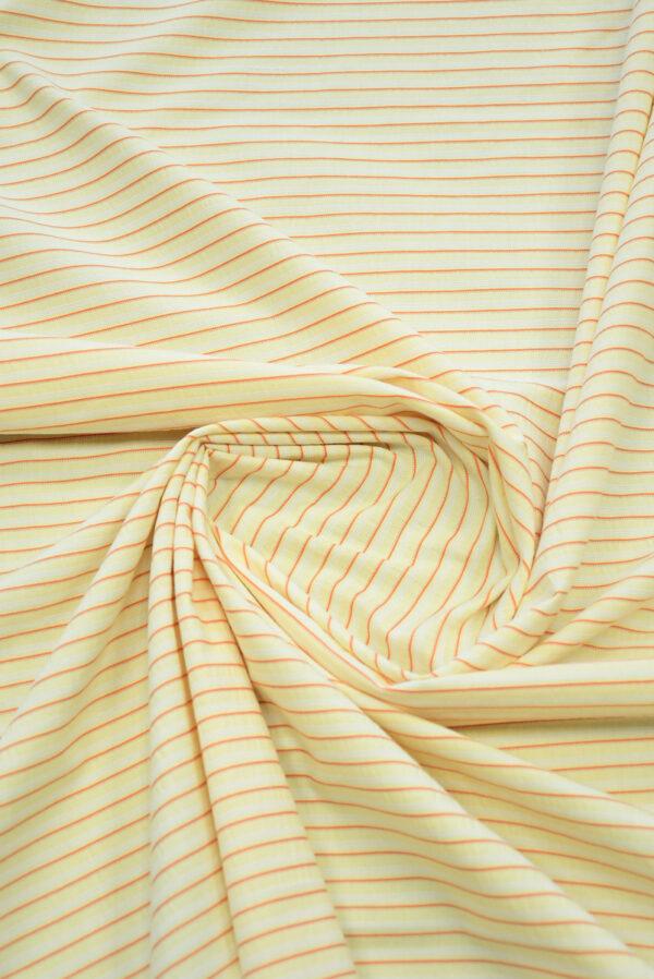 Хлопок желтый в мелкую полоску (9968) - Фото 7