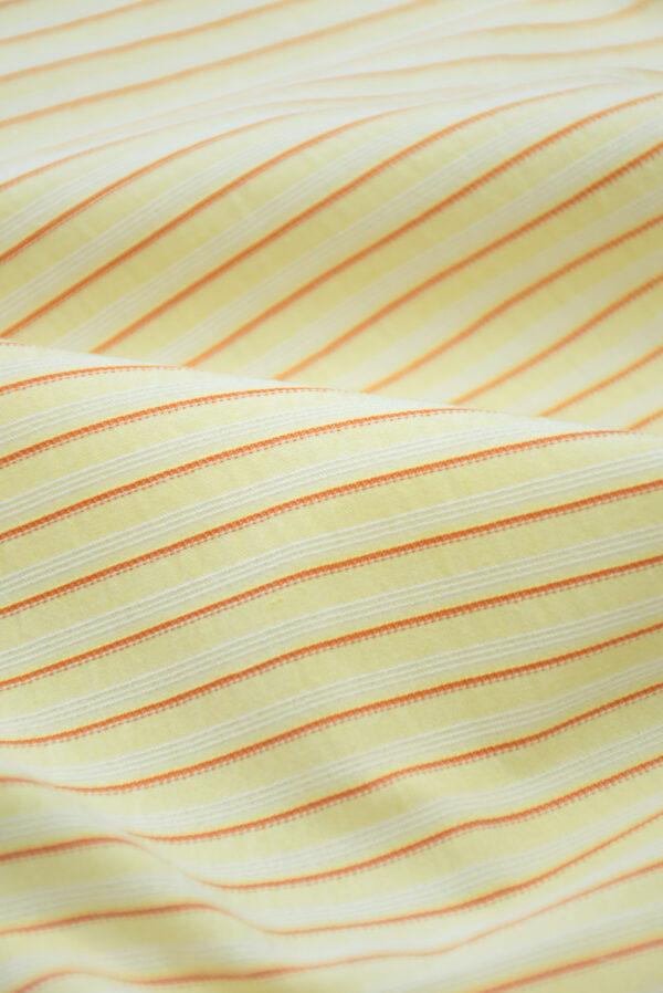 Хлопок желтый в мелкую полоску (9968) - Фото 9