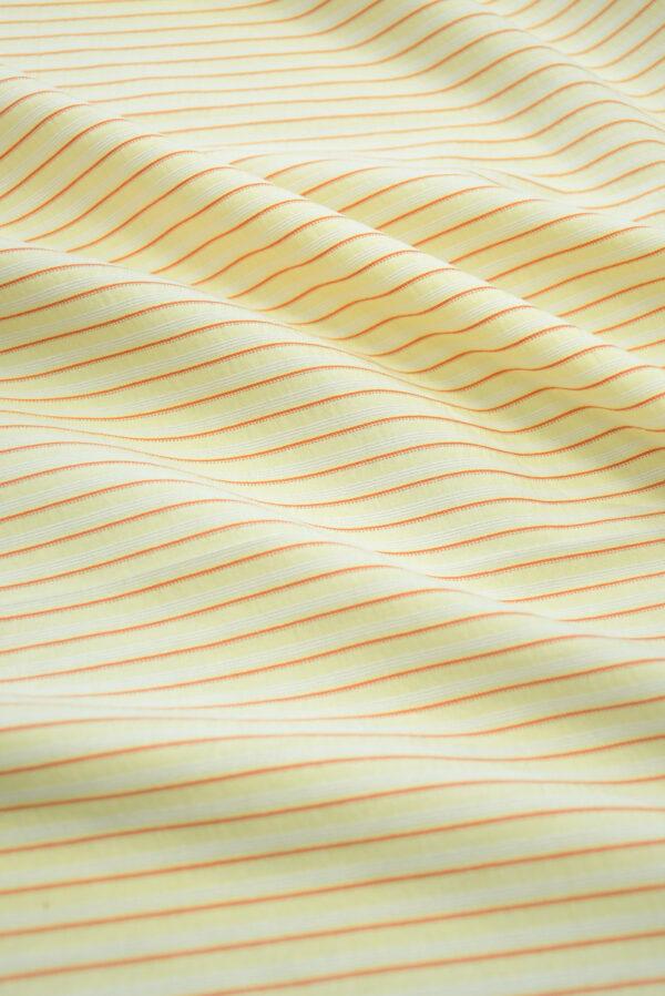 Хлопок желтый в мелкую полоску (9968) - Фото 6