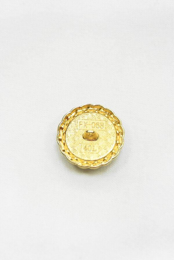 Пуговица твидовая голубая в золотой окантовке (р1465) - Фото 8