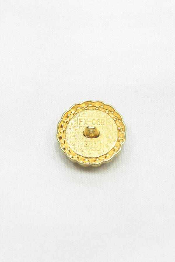 Пуговица твидовая розовая в золотой окантовке (р1466) - Фото 8