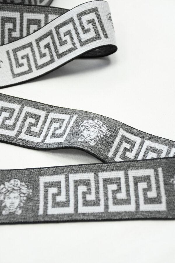 Резинка серый меланж с орнаментом (t0810) т-27 - Фото 8