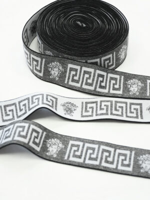 Резинка серый меланж с орнаментом (t0810) т-27 - Фото 11