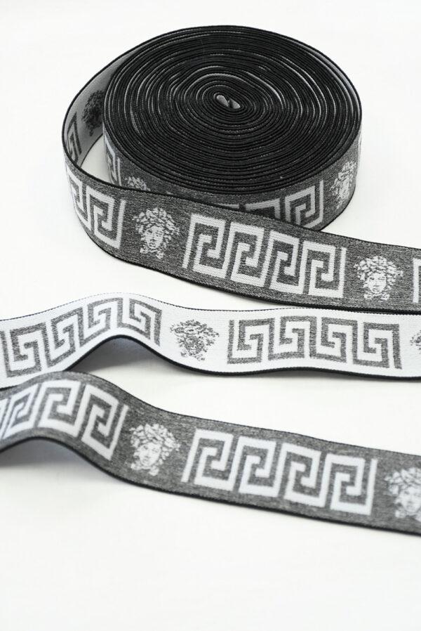 Резинка серый меланж с орнаментом (t0810) т-27 - Фото 6
