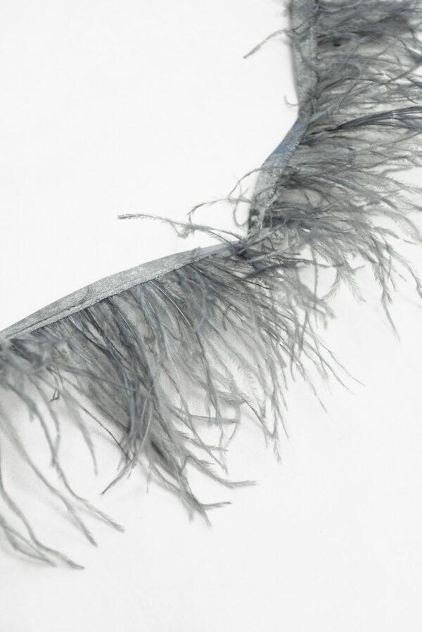 Перья страуса серые (t0814) т-26 - Фото 8