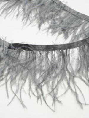 Перья страуса серые (t0814) т-26 - Фото 17