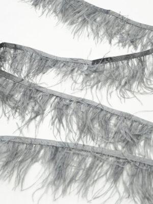 Перья страуса серые (t0814) т-26 - Фото 16