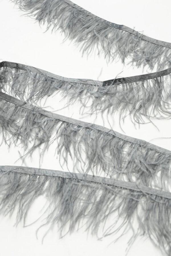 Перья страуса серые (t0814) т-26 - Фото 6