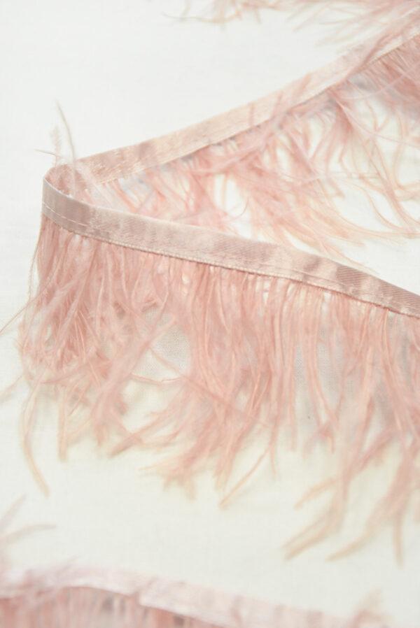 Перья страуса розовые (t0815) т-26 - Фото 8