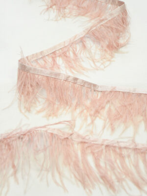 Перья страуса розовые (t0815) т-26 - Фото 10