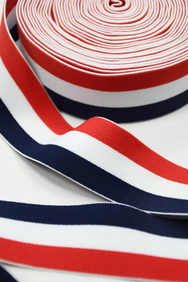 Резинка в красную белую и синюю полоску (t0833) т-16 - Фото 7