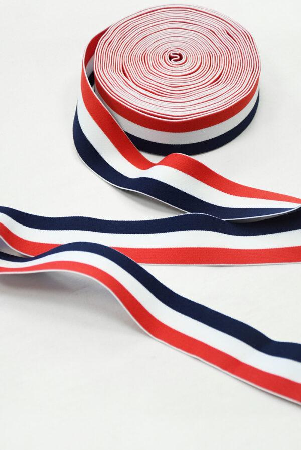 Резинка в красную белую и синюю полоску (t0833) т-16 - Фото 6