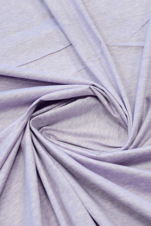 Трикотаж светло-сиреневый меланж (10043) - Фото 9