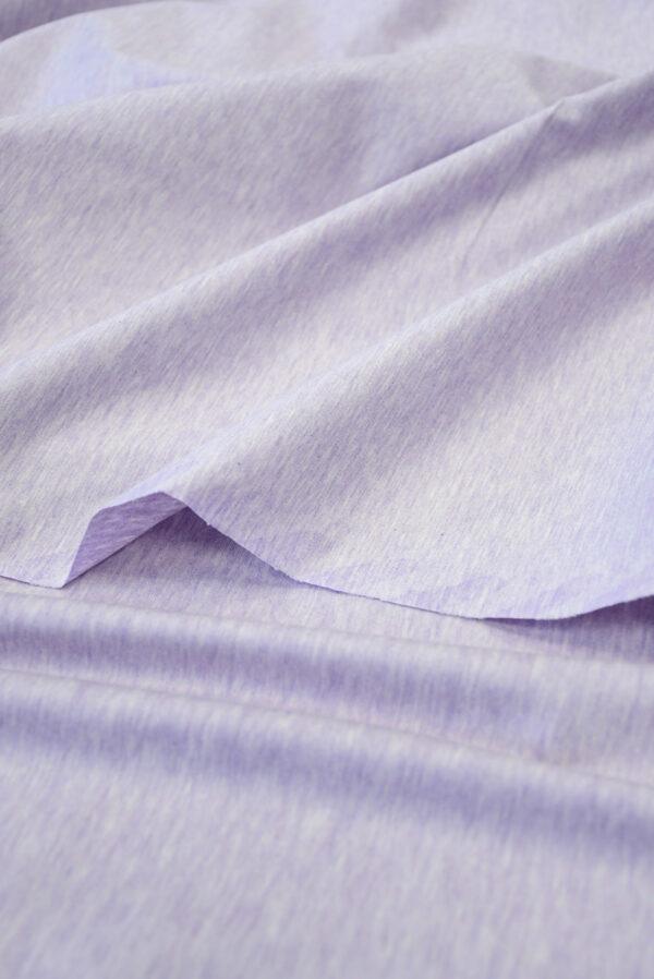 Трикотаж светло-сиреневый меланж (10043) - Фото 11