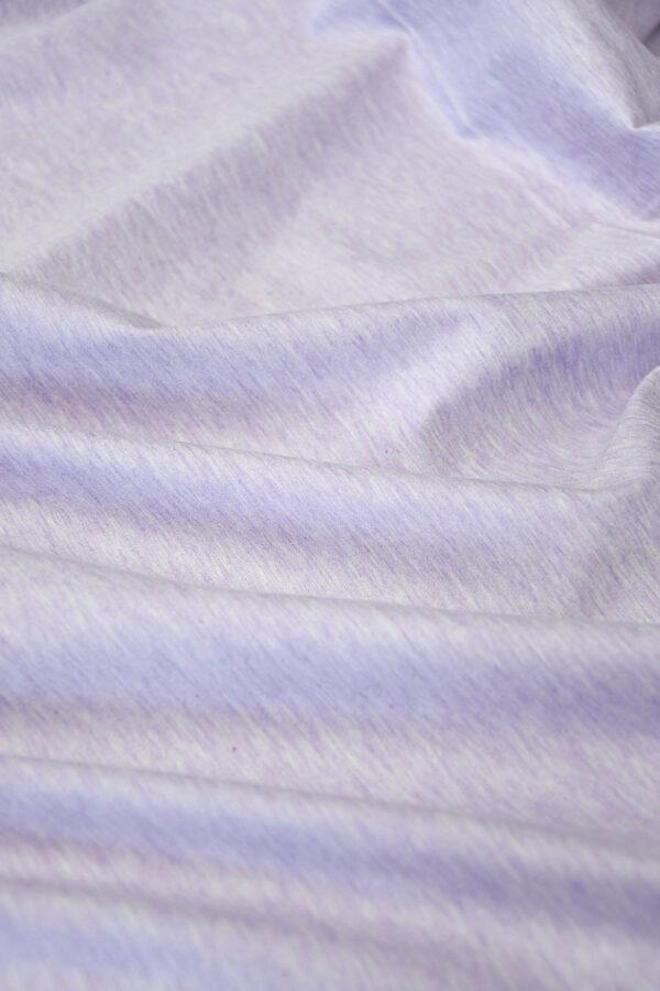Трикотаж светло-сиреневый меланж (10043) - Фото 6
